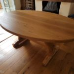 elliptical oak table
