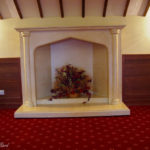 fire place at farrington park golf club