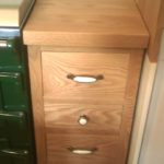 kitchen drawers in oak freestanding