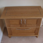 ladies filing cabinet with blue inlay
