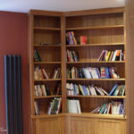 library three walled bookcase