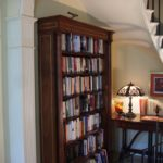 mahogany & inlay fluted columns bookcase