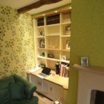 alcove cupboards with oak tops