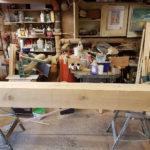 oak beam disstressed for covering rsj