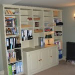 office bookcase and cupboards