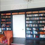 bookcase in georgian town house in black