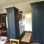 kitchen open plan in black