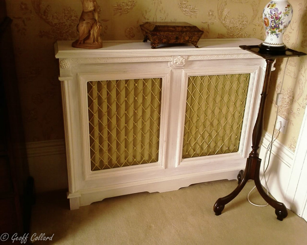 Ornate radiator cover double