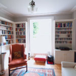 library in georgian town house
