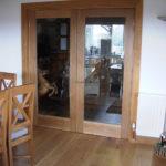 pair glass doors