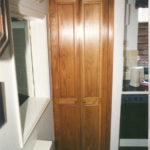 Pair of oak doors for a kitchen cupboard