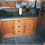 kitchen pine island unit
