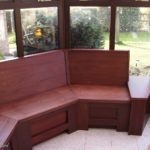 seating in conservatory with storage