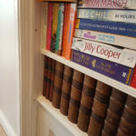 secret bookcase door detail