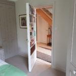 secret bookcase door open