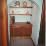 solid mahogany telephone cupboard