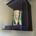 trophy cabinet for bath rugby's heineken cup fitted