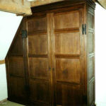 wardrobe in distressed oak at bewley court lacock