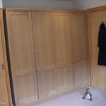 wardrobe in oak with acrylic finish