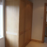 wardrobe in oak with acrylic finish 2