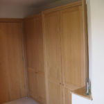 wardrobe in oak with acrylic finish 3