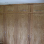wardrobe in solid and veneered oak