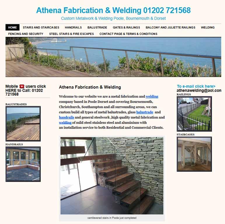 Athena website screenshot