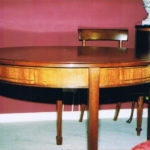 table mahogany drum table side