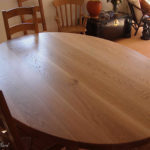 table elliptical solid oak table