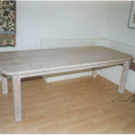 table limed oak table eight feet long