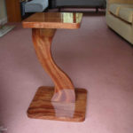 freestanding sculptured display table