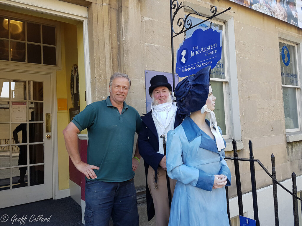 jane austen museum me with the mannequin I restored