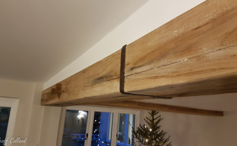 oak beam cladding for rsj steelbeams - disstressed oak