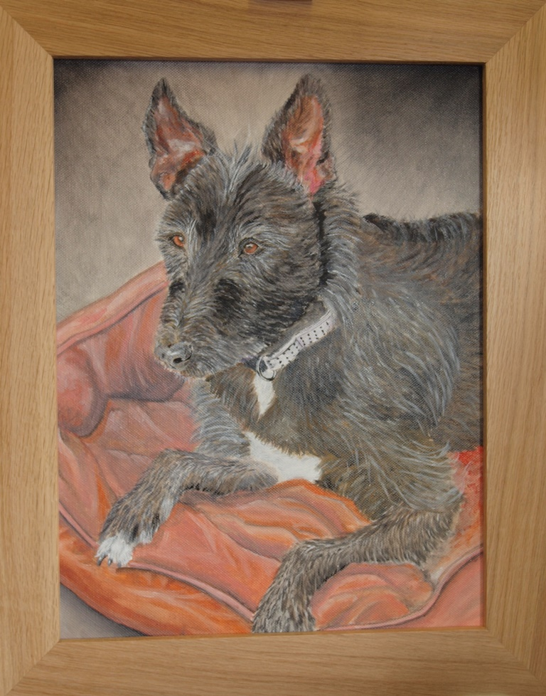 Oil Painting of one of my dogs