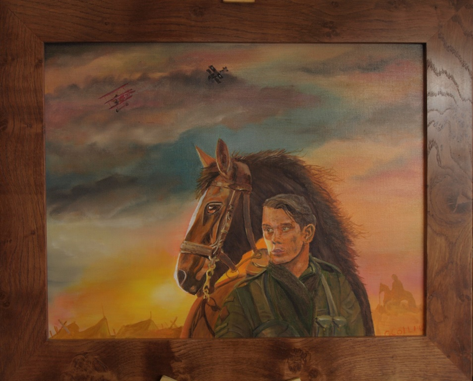 Oil painting of Warhorse