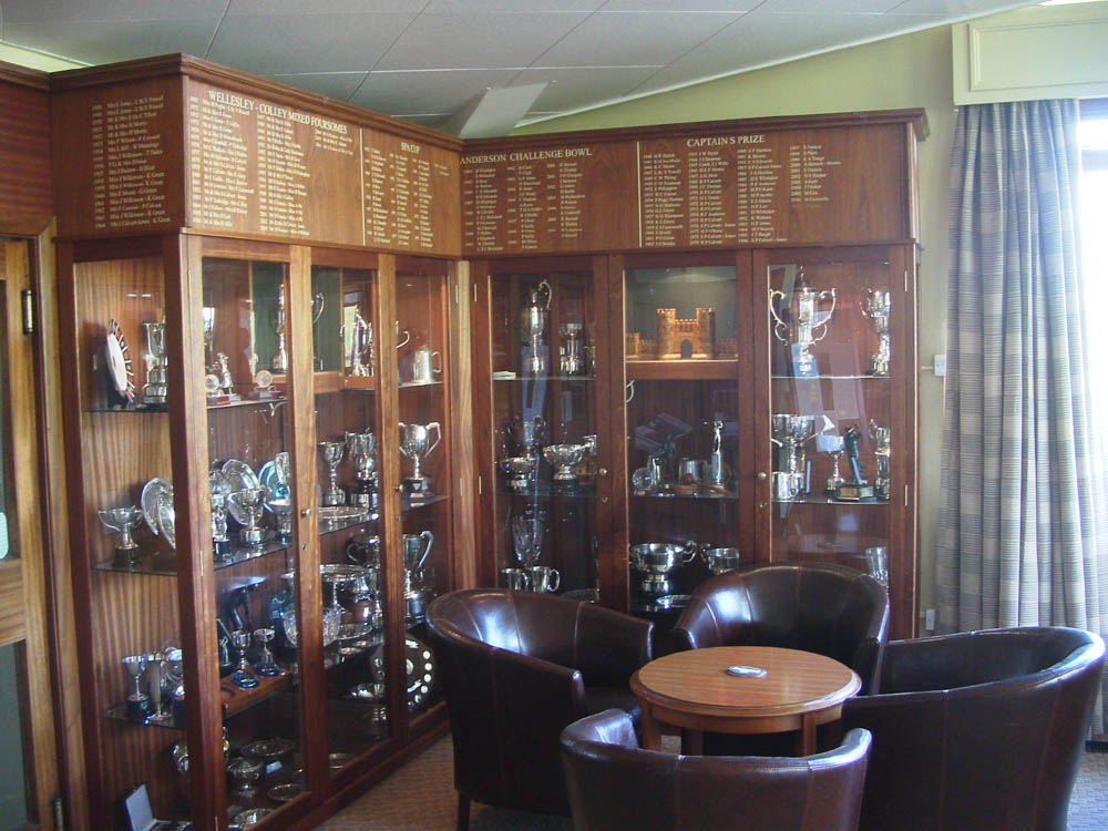 Bath Golf Club Trophy Cabinet